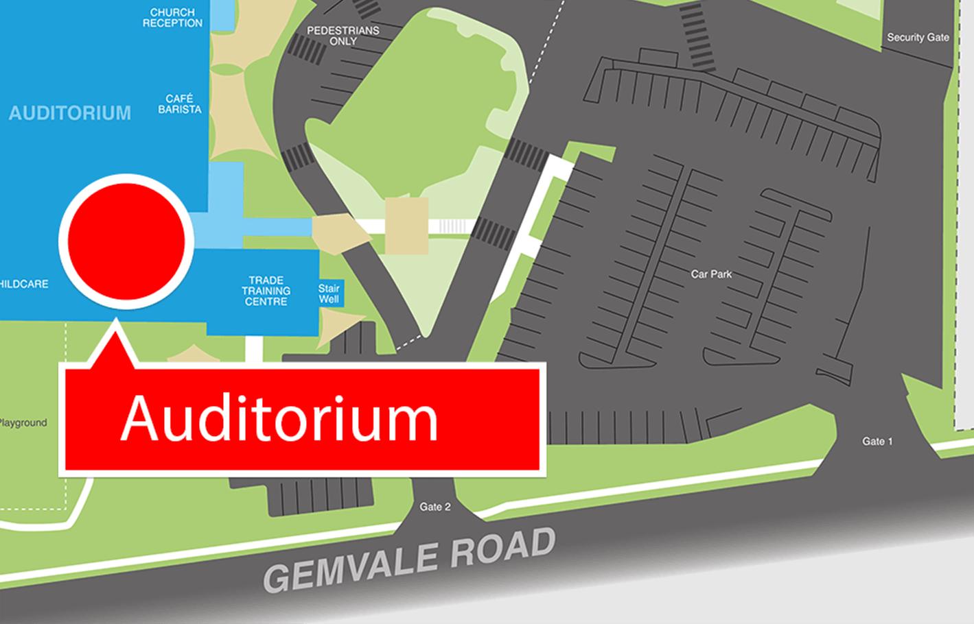 Map to Auditorium